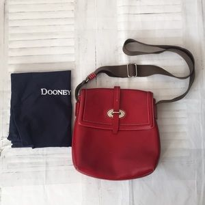 Dooney & Bourke red leather crossbody bag purse